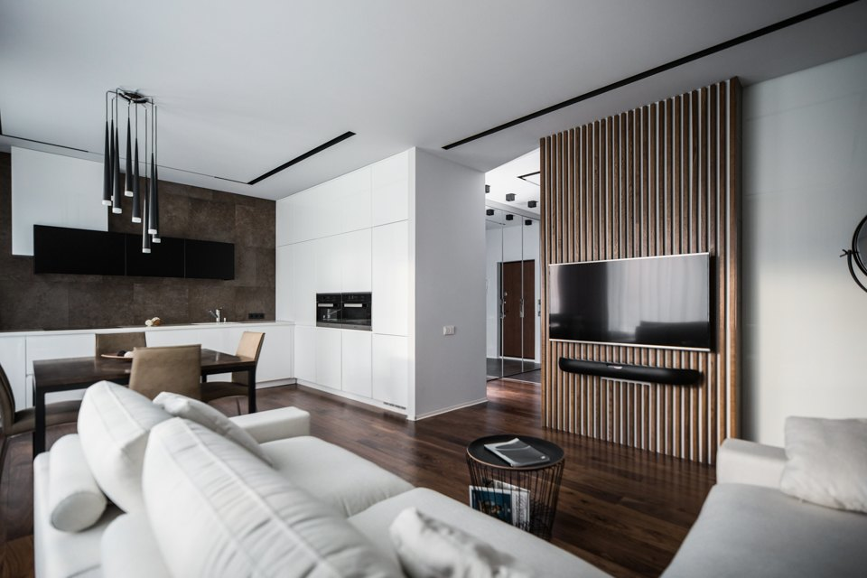 Минималистичная квартира для семьи, живущей зарубежом . Изображение № 2.