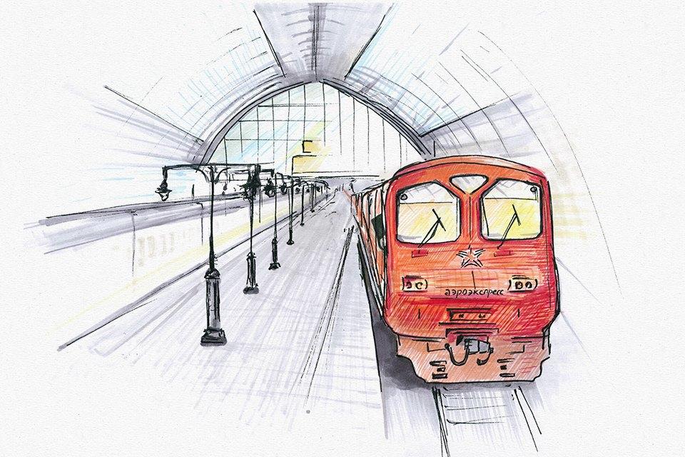Клуб Рисовальщиков: Украинский бульвар иКиевский вокзал. Изображение № 4.