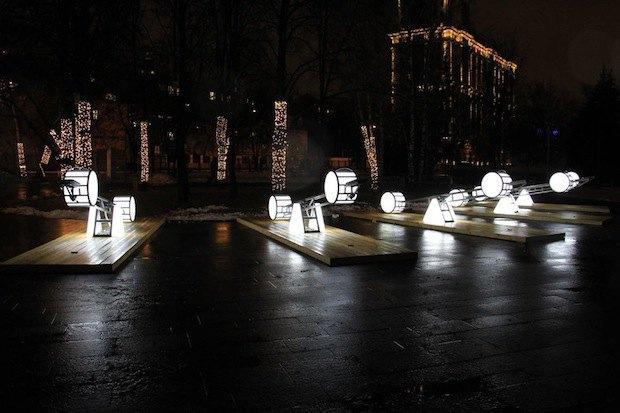 Световые качели в парке «Музеон». Изображение № 2.