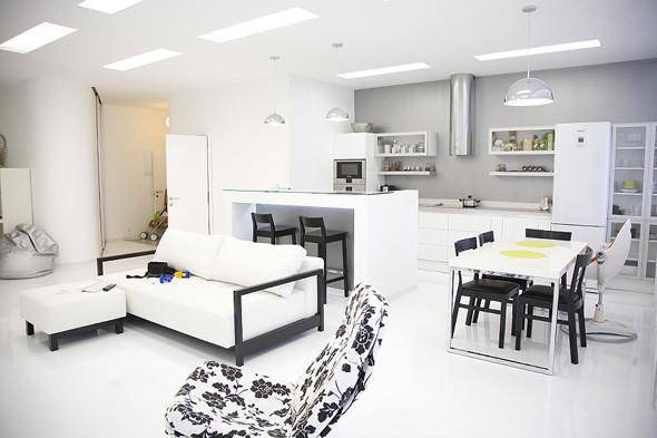 Кухня, объединенная с гостиной. Изображение № 8.
