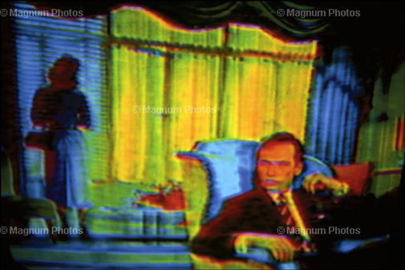 Harry Gruyaert. Great Britain & France. TV shots. Movie. 1972. © Harry Gruyaert/Magnum Photos. Изображение № 12.