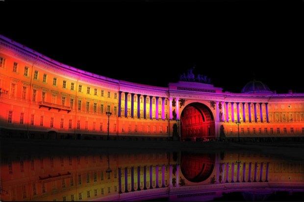 На ночь глядя: 12 проектов подсветки Главного штаба. Изображение № 29.