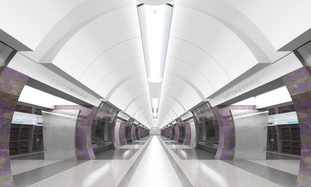 Проект станции «Хорошевская». Изображение с сайта «Метрогипротранса». Изображение № 5.