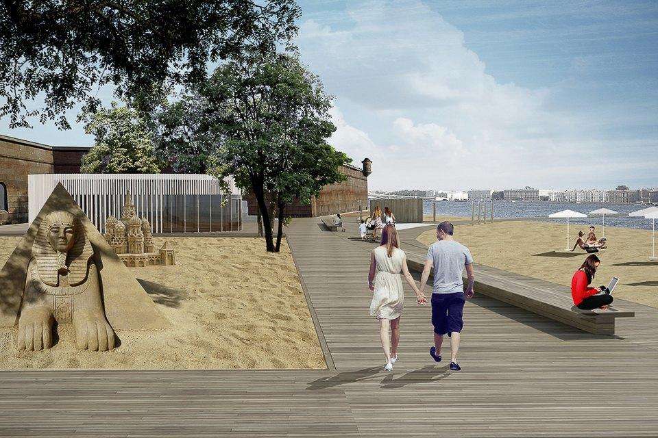 Плавучий бассейн на пляже Петропавловки. Проект Rhizome Group . Изображение № 3.