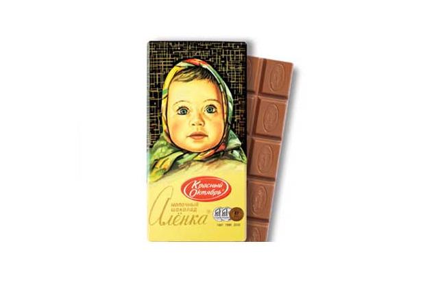 Шоколад «Алёнка» кондитерской фабрики «Красный Октябрь» . Изображение № 2.