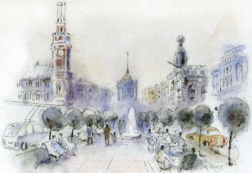 Бульвар на Невском проспекте. Изображение № 1.