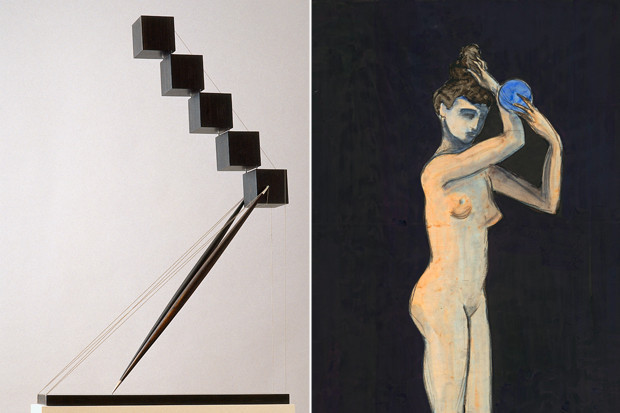 «Моряк», 1995, скульптура, и «Туалет c голубой губкой, 2011, бумага, акварель . Изображение № 11.