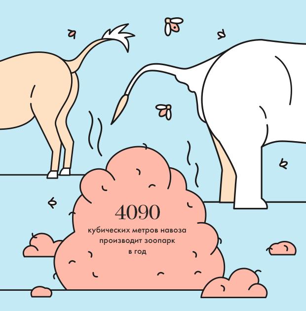 Москва в цифрах: Сколько навоза производит зоопарк. Изображение № 1.