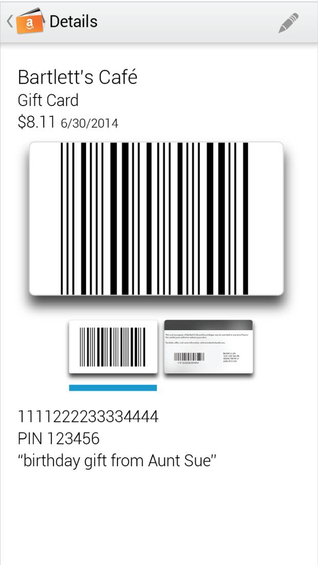 Amazon выпустил мобильный кошелёк для подарочных карт. Изображение № 2.