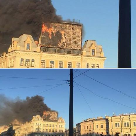 На площади Восстания горит рекламный экран. Изображение № 2.