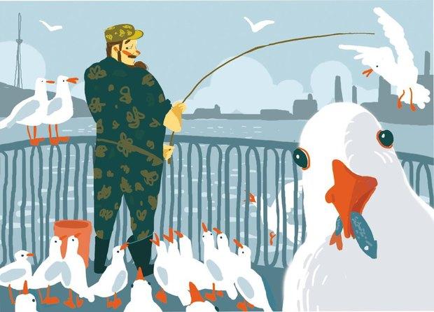 «Буше» выпустили сувенирные открытки силлюстрациями оПетербурге. Изображение № 1.