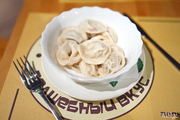 Пельмени «Пикантные» (говядина, свинина, огурцы сол., горчица, лук)  — 140 рублей. Изображение № 8.