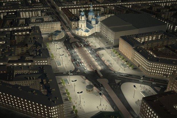 Смольный утвердил проект реконструкции Сенной площади. Изображение № 2.