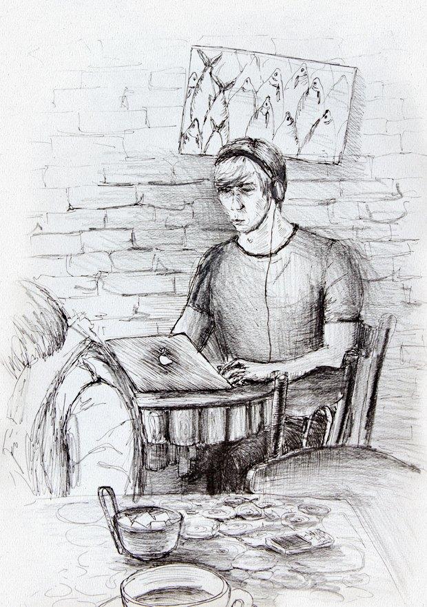 Клуб рисовальщиков: Кофейня LES. Изображение № 3.