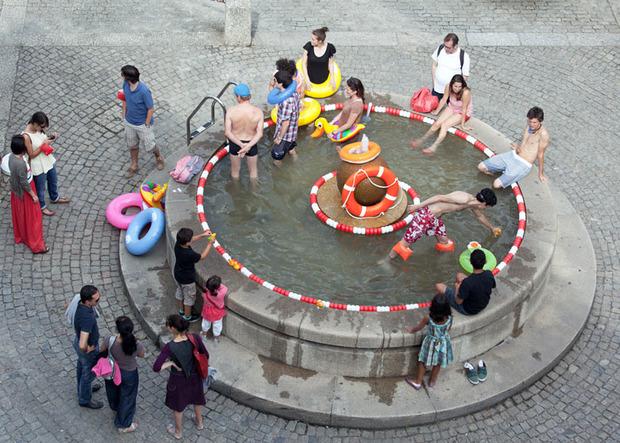 Идеи для города: Общественные бассейны в фонтанах. Изображение № 17.