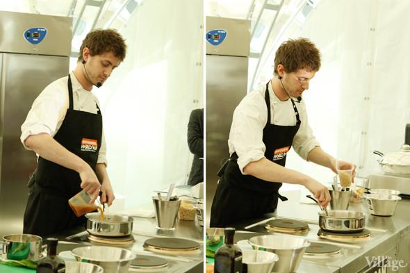 Omnivore Food Festival: Майкл Гринвольд и Симоне Тондо готовят орзотто из ячменя и тартар из голубя. Изображение № 25.