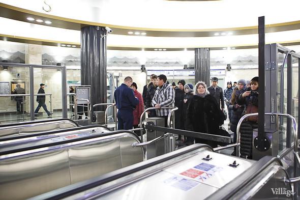 На новой станции метро «Адмиралтейская» уже произошло несколько аварийных остановок эскалатора. Изображение № 30.