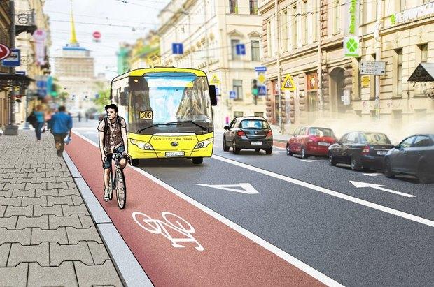 Перестройка: велодорожки на Гороховой инабережной Фонтанки. Изображение № 2.