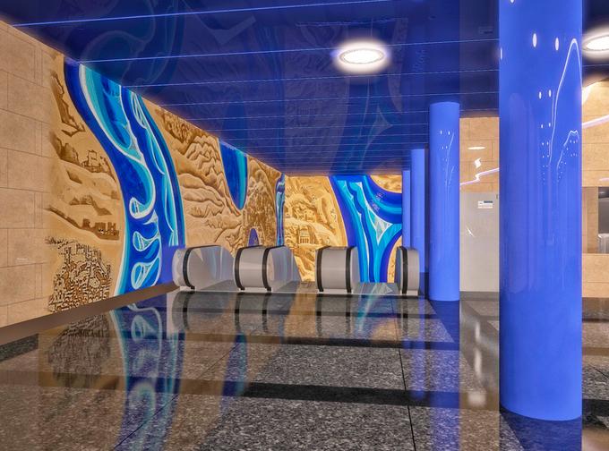 Смольный утвердил внешний вид станции метро «Дунайская». Изображение № 1.