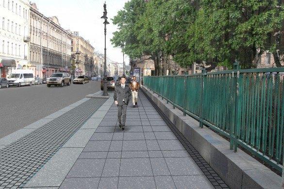 Наулице Восстания укладывают гранитные тротуары взамен бетонных. Изображение № 3.