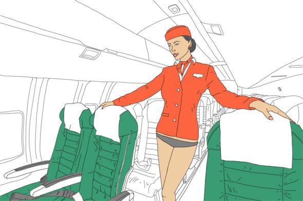 Как всё устроено: Работа стюардессы. Изображение № 3.