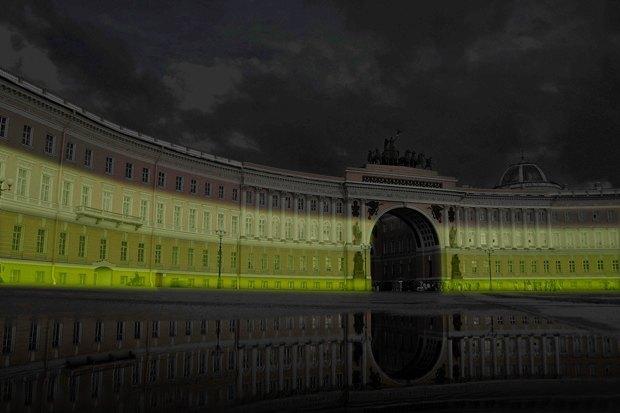 На ночь глядя: 12 проектов подсветки Главного штаба. Изображение № 53.