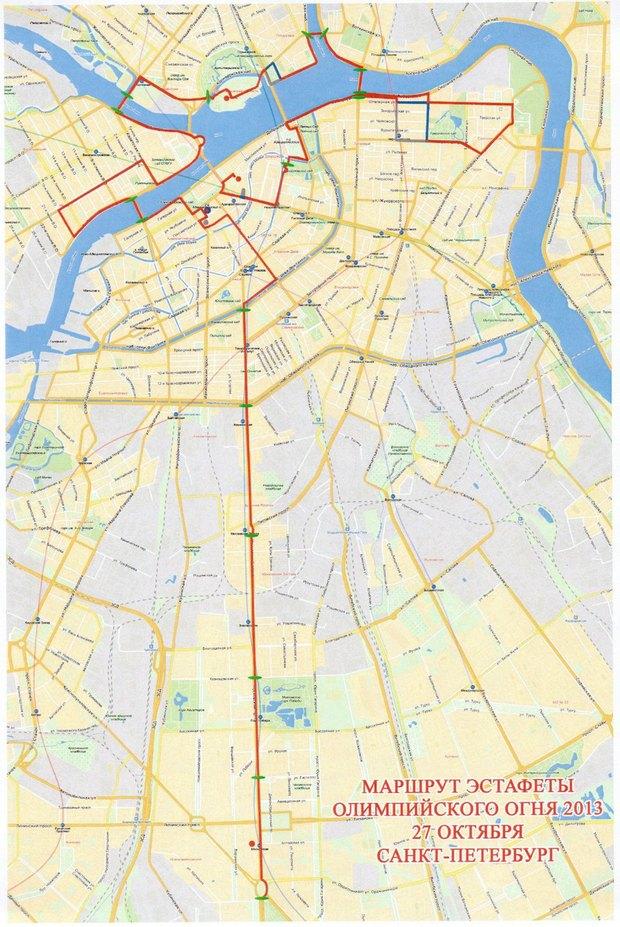 Больше 50 улиц перекроют из-за эстафеты олимпийского огня. Изображение № 1.