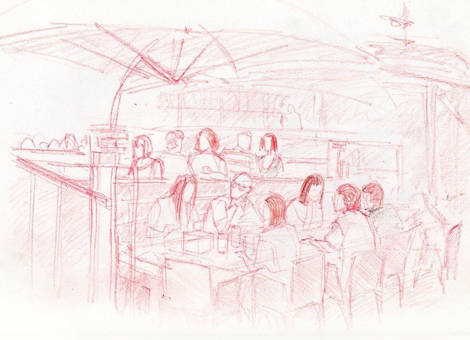 Клуб рисовальщиков: Бар «Стрелка». Изображение № 4.