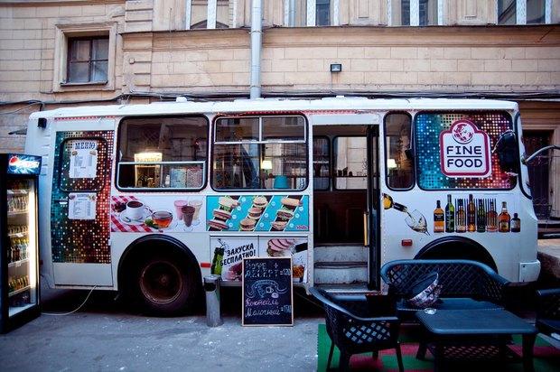 Водворе кластера «Архитектор» открылся кафе-бар вавтобусе . Изображение № 1.