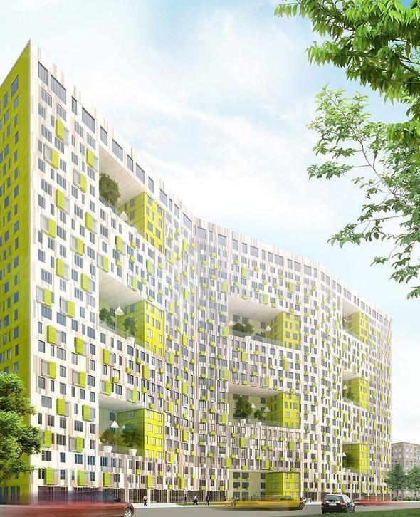 Изображение 4. В Москве построят многоэтажку с зелёными дворами на разных этажах.. Изображение № 2.