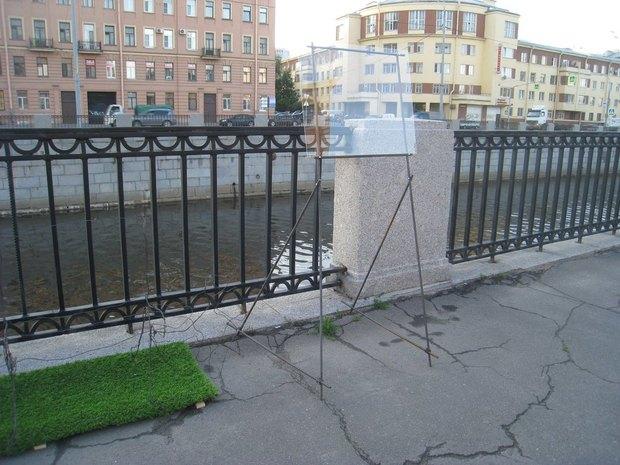 На набережной Обводного канала установили партизанские арт-объекты . Изображение № 4.