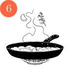 Рецепты шефов: Куриная грудка сперлотто и грибным соусом. Изображение № 8.