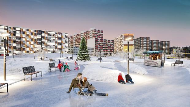 У«Мега Дыбенко» разобьют парк. Изображение № 3.