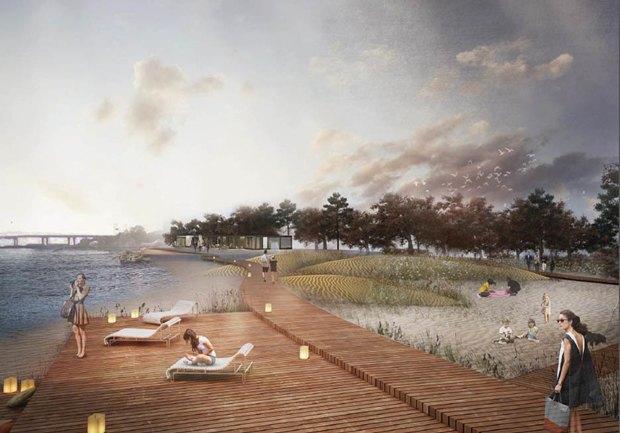 Опубликована визуализация набережной южной части Крестовского острова без ресторанов. Изображение № 4.