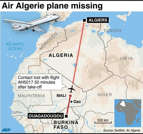 Разбившийся из-за бури самолёт Air Algérie нашли на границе Мали. Изображение № 1.