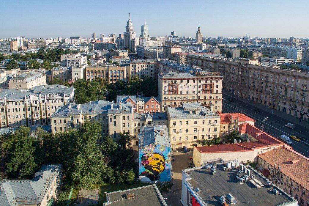 Лучшие московские граффити свысоты птичьего полёта. Изображение № 11.