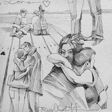 Влюблённые пары на улицах Москвы. Изображение № 12.