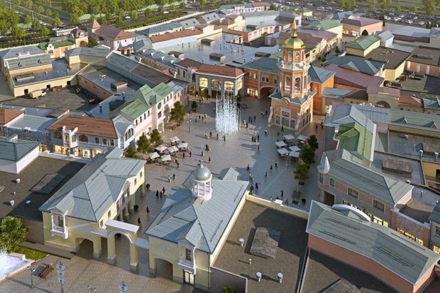 Outlet Village Белая Дача в макете. Изображение № 19.