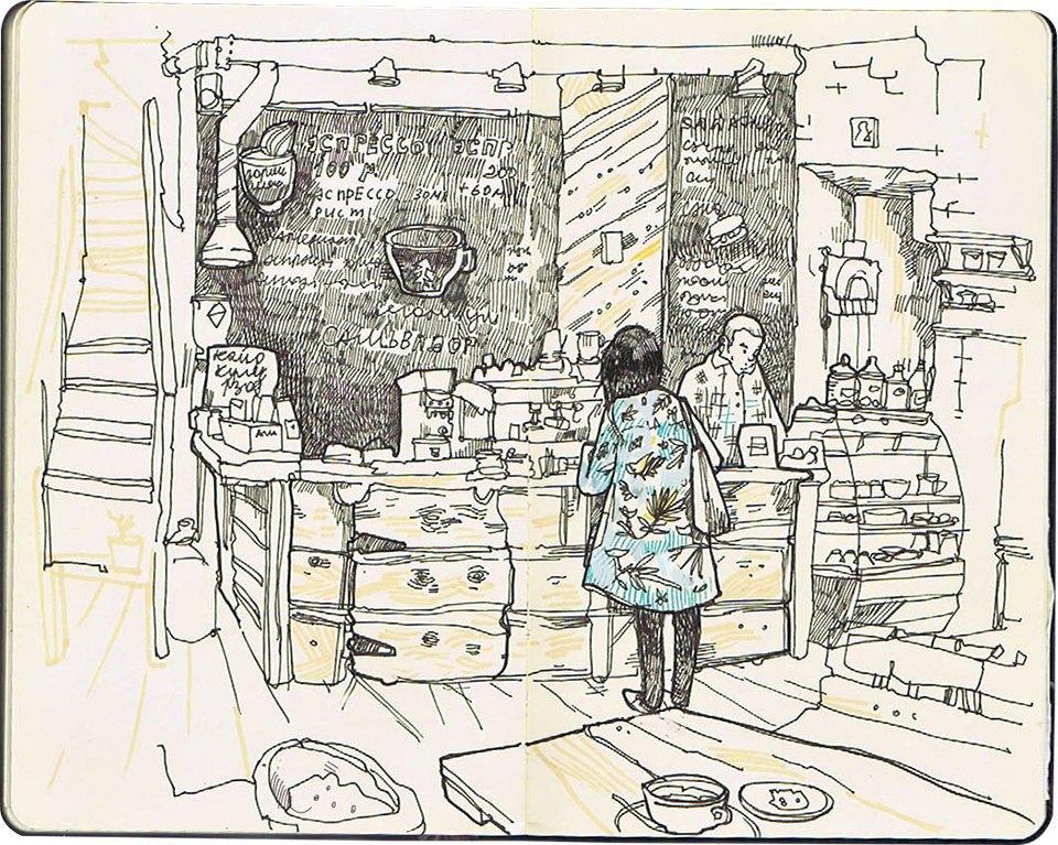 Клуб рисовальщиков: Кофейня LES. Изображение № 2.