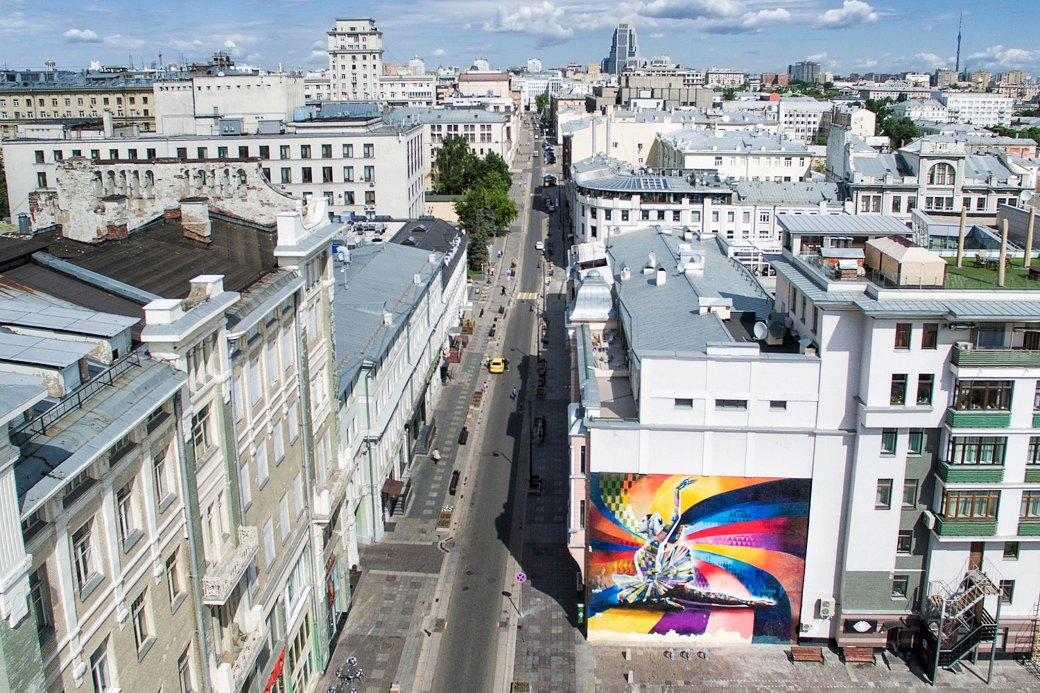 Лучшие московские граффити свысоты птичьего полёта. Изображение № 2.