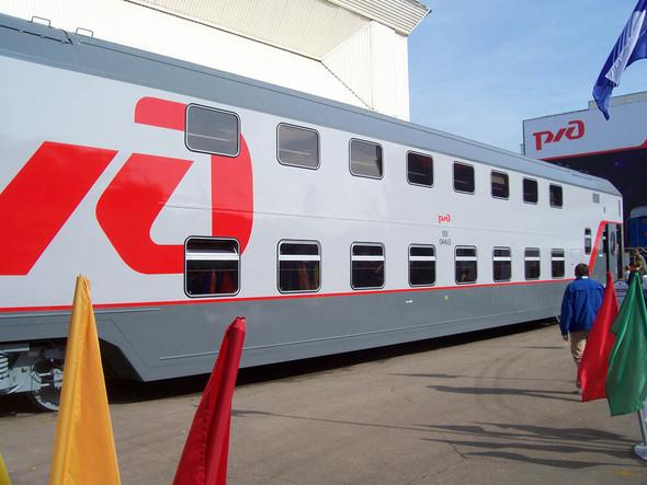 Двухэтажный поезд на выставке РЖД . Изображение № 9.