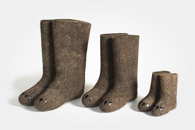 Валенки «Медвежья обувь», 145 евро. Изображение № 18.