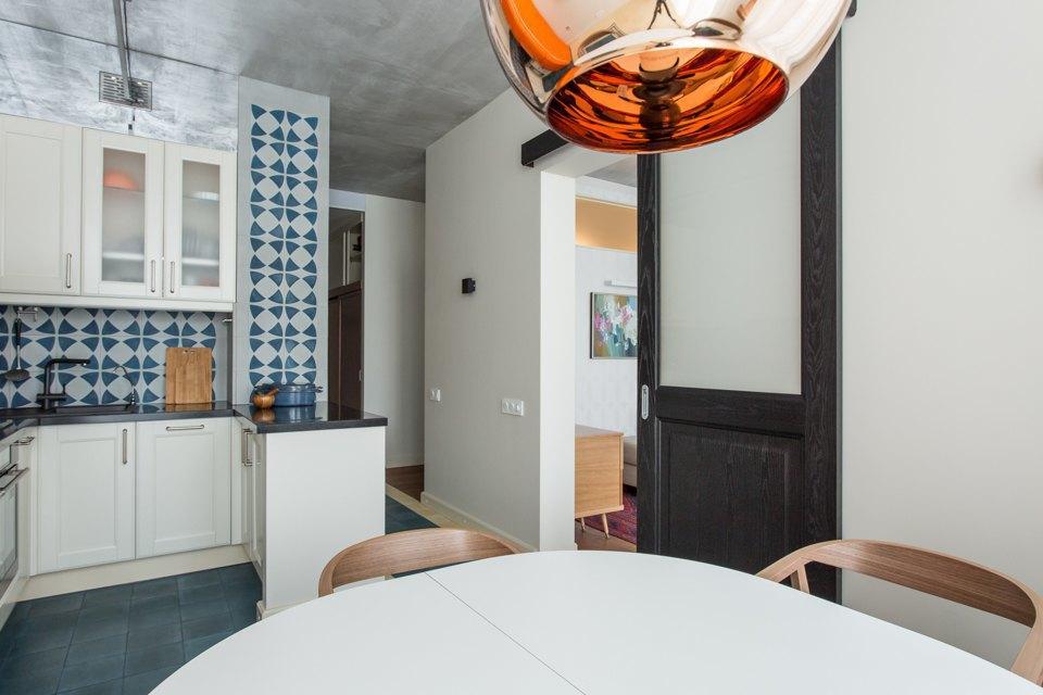 Трёхкомнатная квартира в духе модернизма на «Октябрьском поле». Изображение № 9.