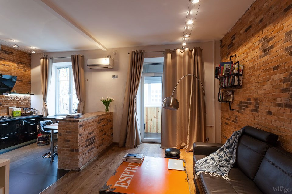 4128a0c99c863 Студия в стиле «лофт» в сталинском доме. Изображение № 1.