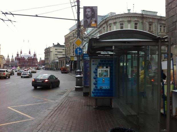 На Тверской появились умные остановки. Изображение № 1.