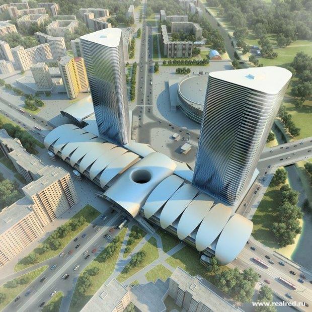 Рынок у «Проспекта Большевиков» зачищают для строительства небоскреба. Изображение № 1.