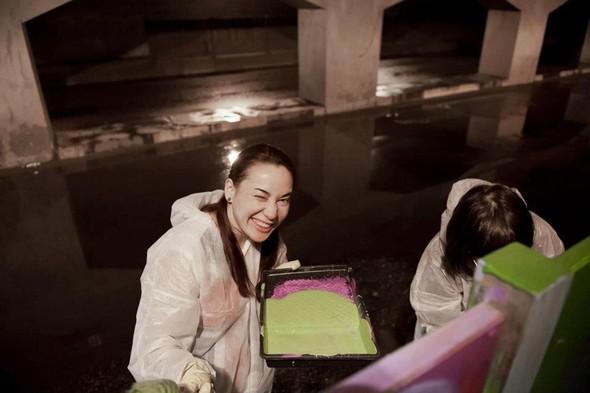 Добровольцы разукрасили туннель около «Винзавода». Изображение № 8.