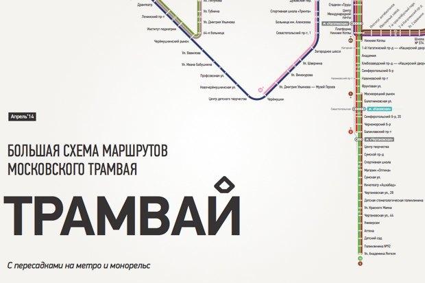 Арт-директор студии nOne оновой схеме московских трамваев. Изображение № 9.