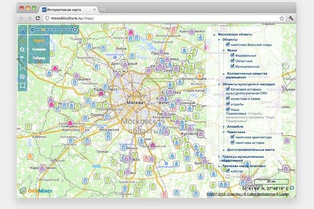 Памятники Подмосковья разместили на интерактивной карте. Изображение № 1.