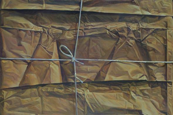 Михаил Омбыш-Кузнецов, «Обратная сторона пакета», 1994. Изображение № 4.